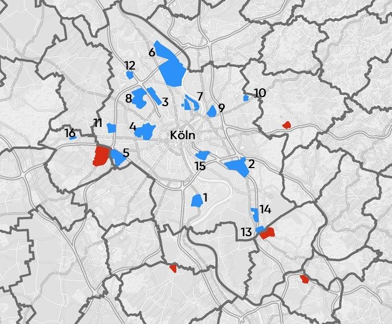 Karte Gewerbegebiete